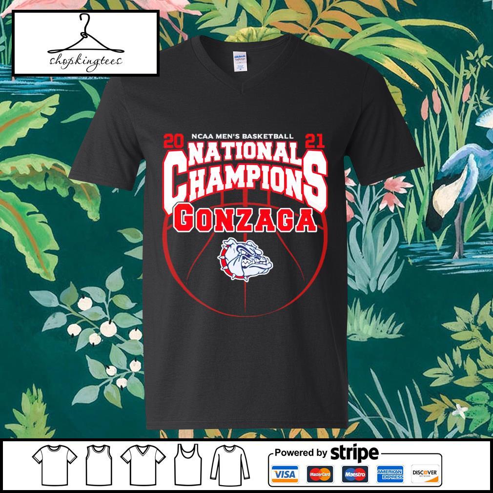 National Champions Gonzaga Bulldogs 2021 NCAA Men's Basketball guy v-neck t-shirt