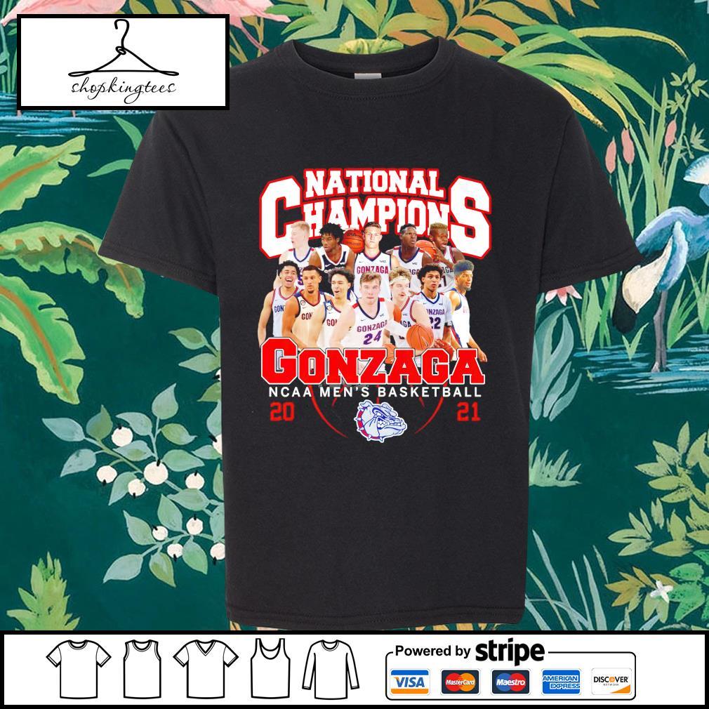 National Champions Gonzaga Bulldogs NCAA men's basketball 2021 shirt