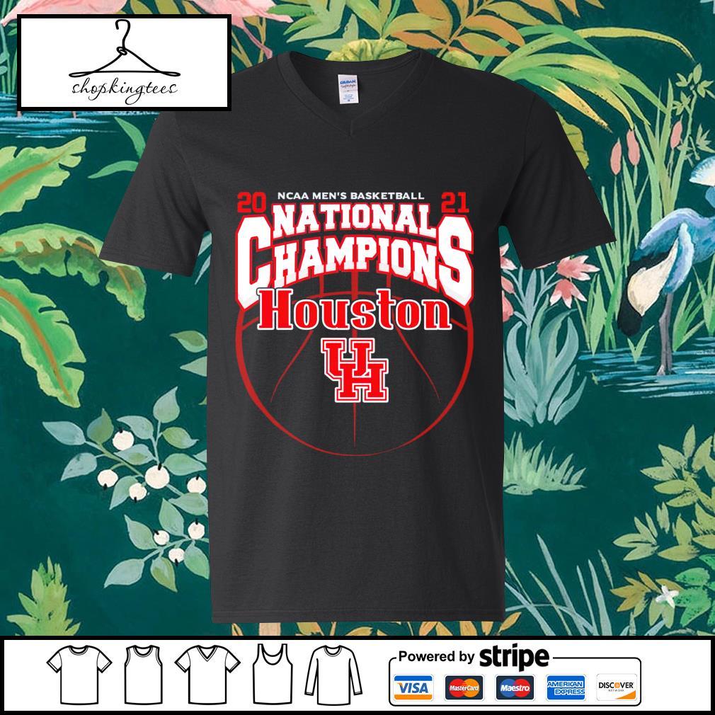 National Champions Houston Cougars 2021 NCAA Men's Basketball guy v-neck t-shirt
