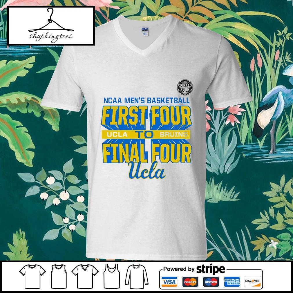 NCAA men's basketball First Four UCLA Bruins Final Four guy v-neck t-shirt