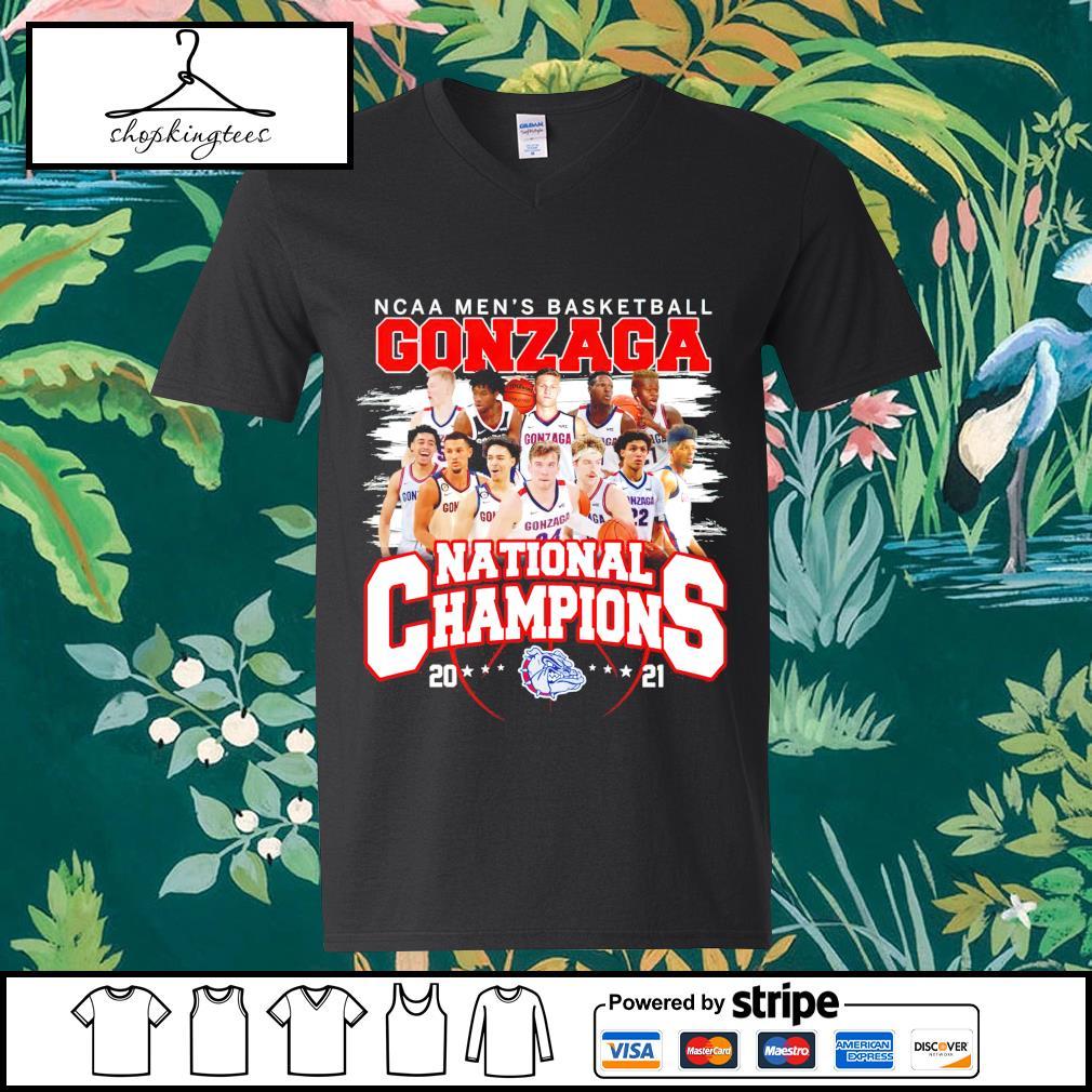 NCAA men's basketball Gonzaga Bulldogs National Champions 2021 guy v-neck t-shirt