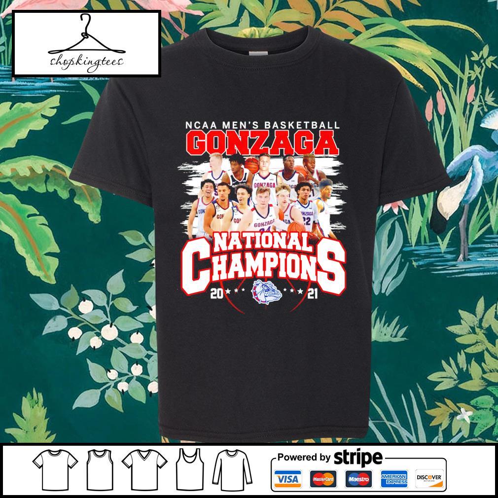 NCAA men's basketball Gonzaga Bulldogs National Champions 2021 shirt