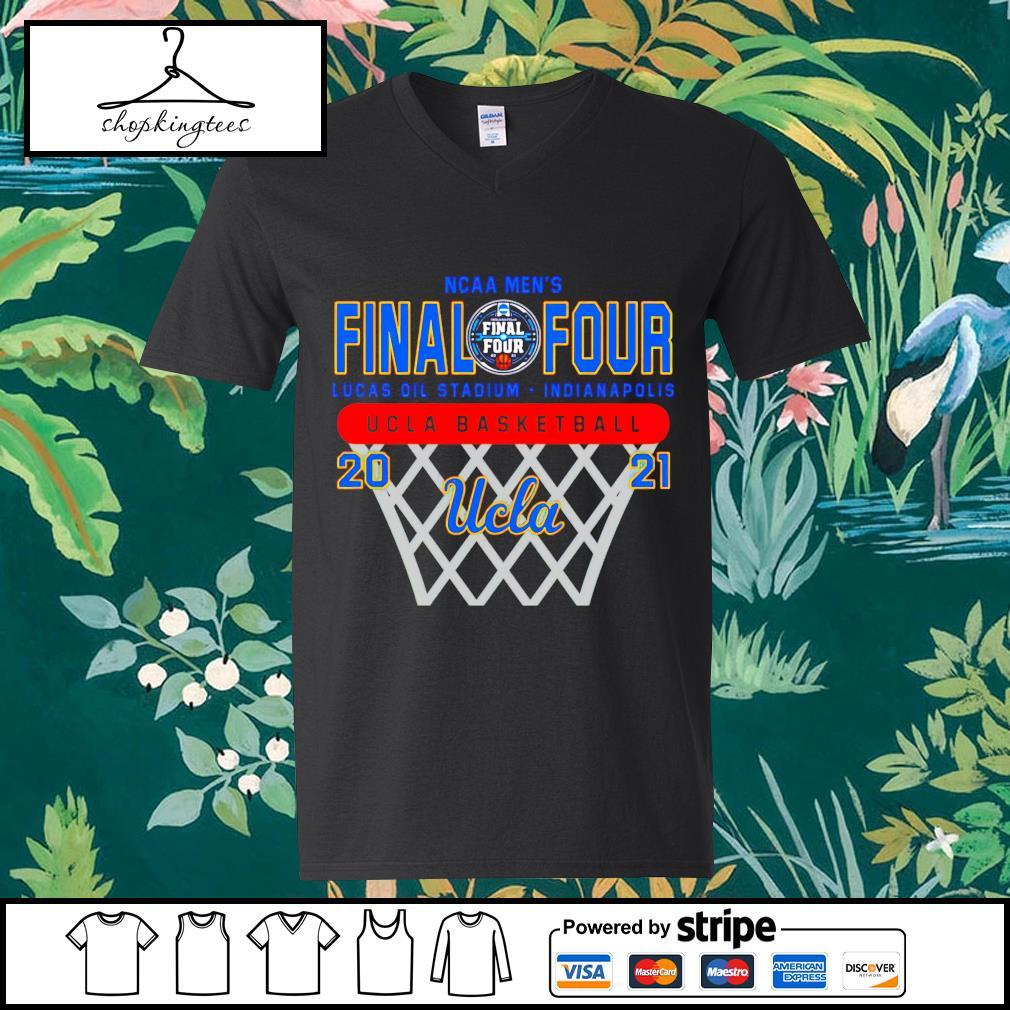 NCAA men's Final Four Lucas Oil Stadium Indianapolis UCLA basketball guy v-neck t-shirt