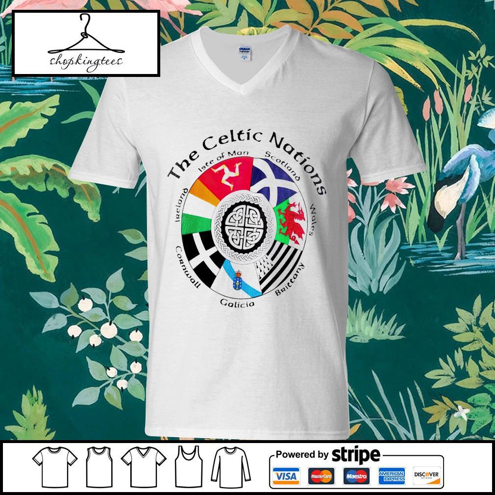 The Celtic Nations guy v-neck t-shirt